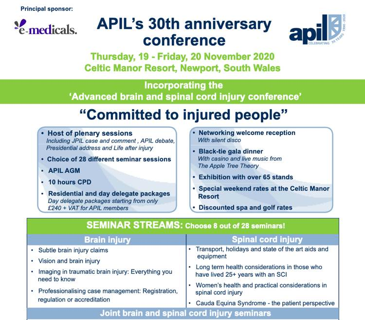 Helen Clifford Law - Blog - Speaking at APIL conference